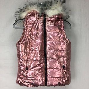Urban Republic Pink Metallic Puffer Vest
